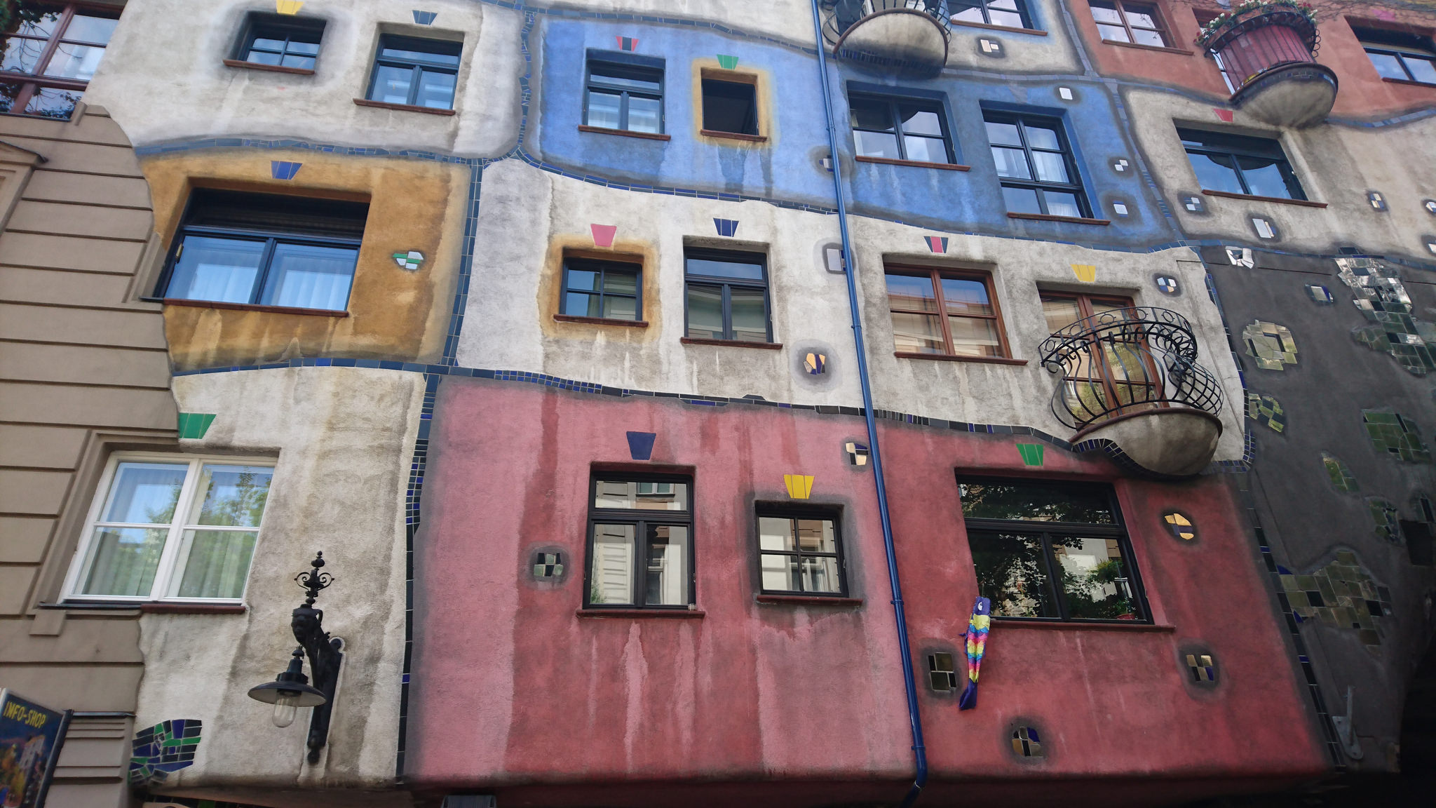 Here is another of Friedensreich Hundertwasser's famous buildings. Wouldn't you love to live here?