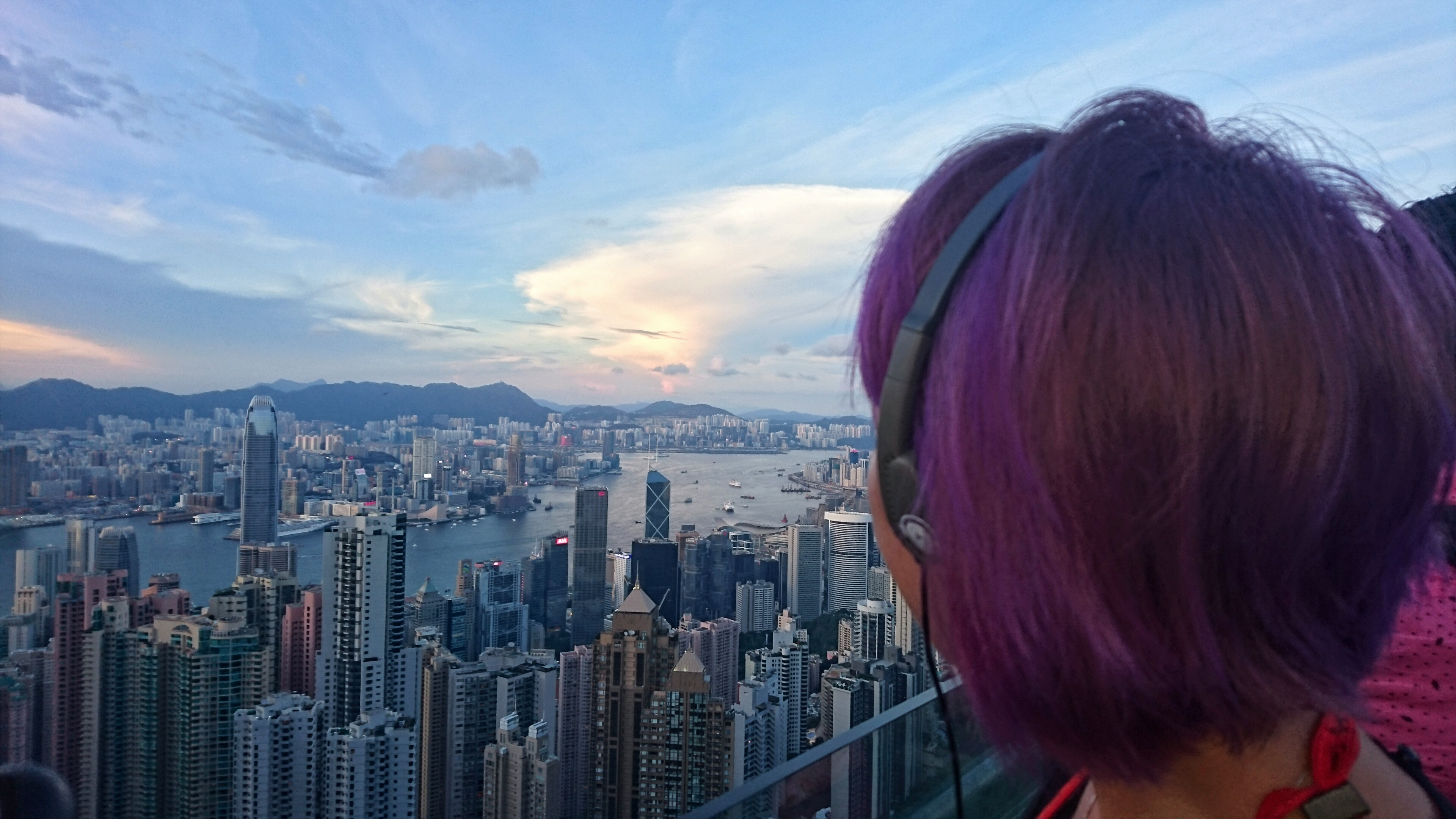 View of Victoria Harbour from The Peak, Hong Kong