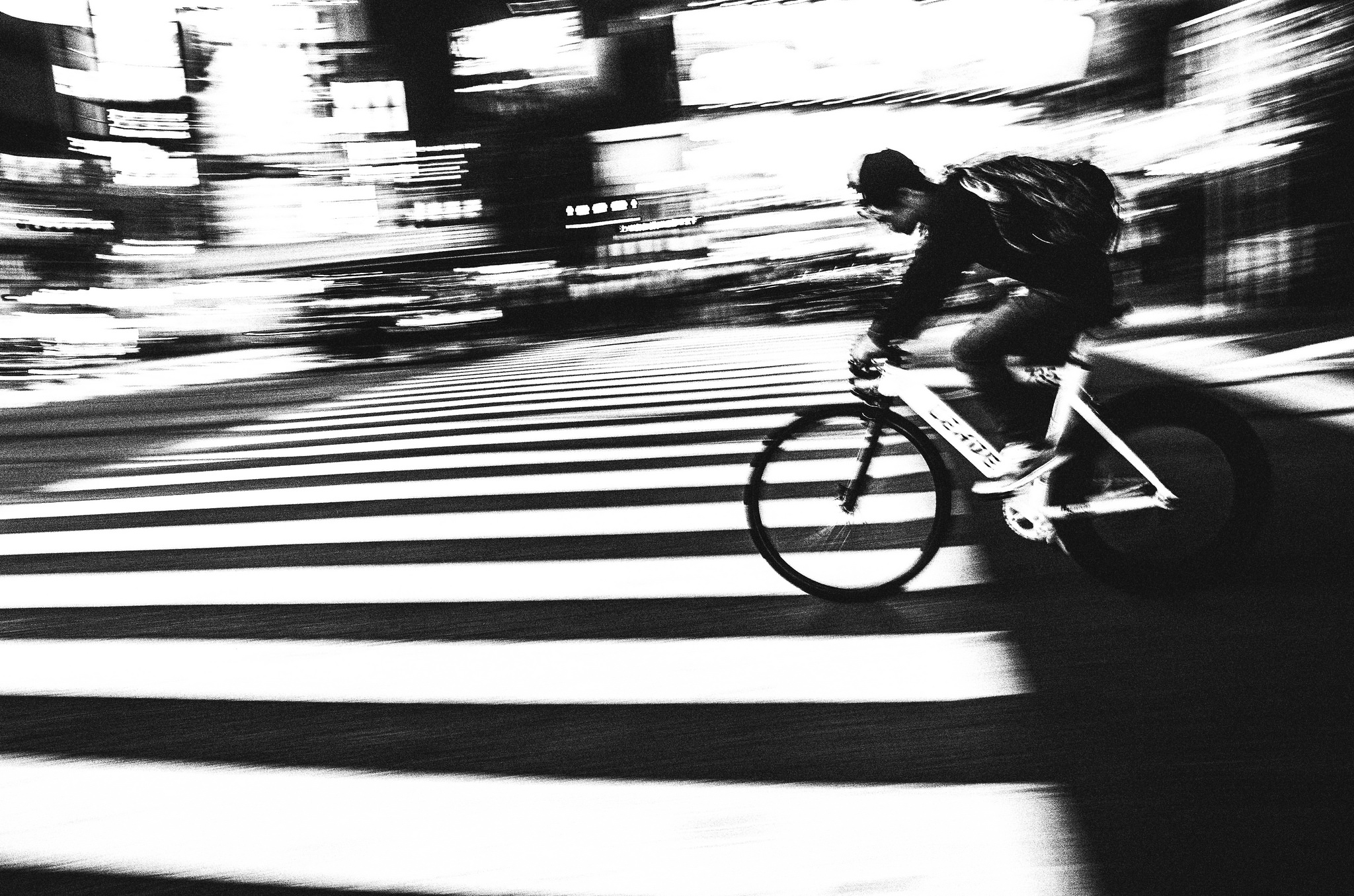 Shibuya: April, 2016 (Black and white)